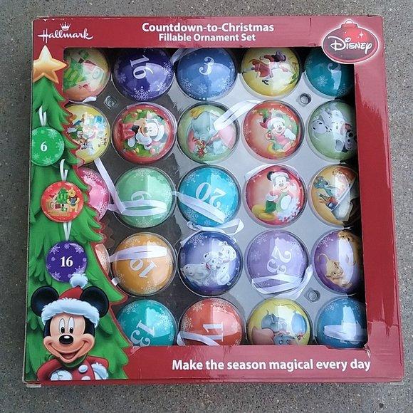 Disney Countdown to Christmas Ornaments